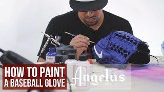 How To Custom Baseball Gloves   Angelus Paint