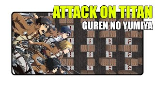 Attack On Titan - Guren No Yumia Op.1 - Minecraft Xbox |NoteBlock Song|