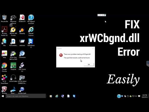 How to Fix XrWcbgnd.dll Error at Windows Startup