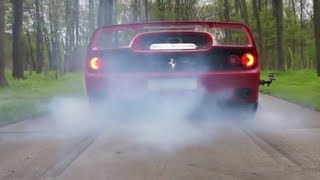 Ferrari F50 Burnout!