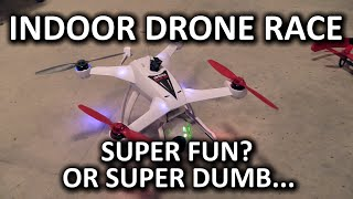 "Indoor Drone (Destruction?) Racing & Bonus ""Get the Keys"" mini-game"