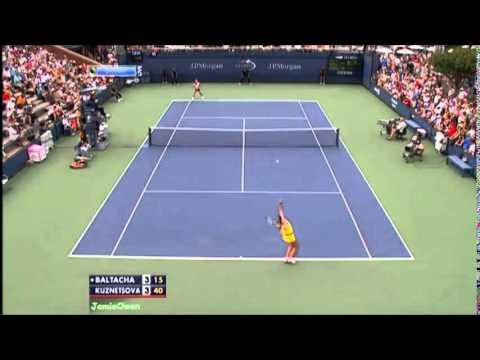 Svetlana Kuznetsova vs Elena Baltacha 2011 US Open Highlights