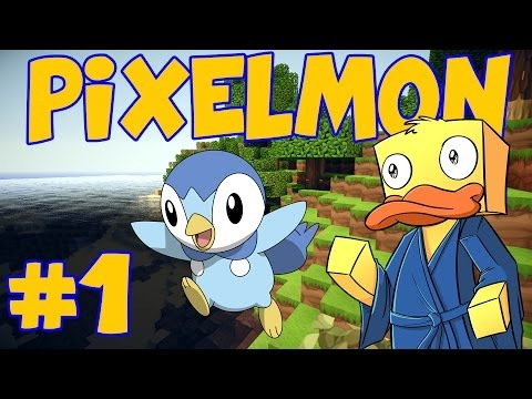 Minecraft Pixelmon #1 - New Beginnings and Piplup! (Minecraft Pixelmon Multiplayer Gameplay)