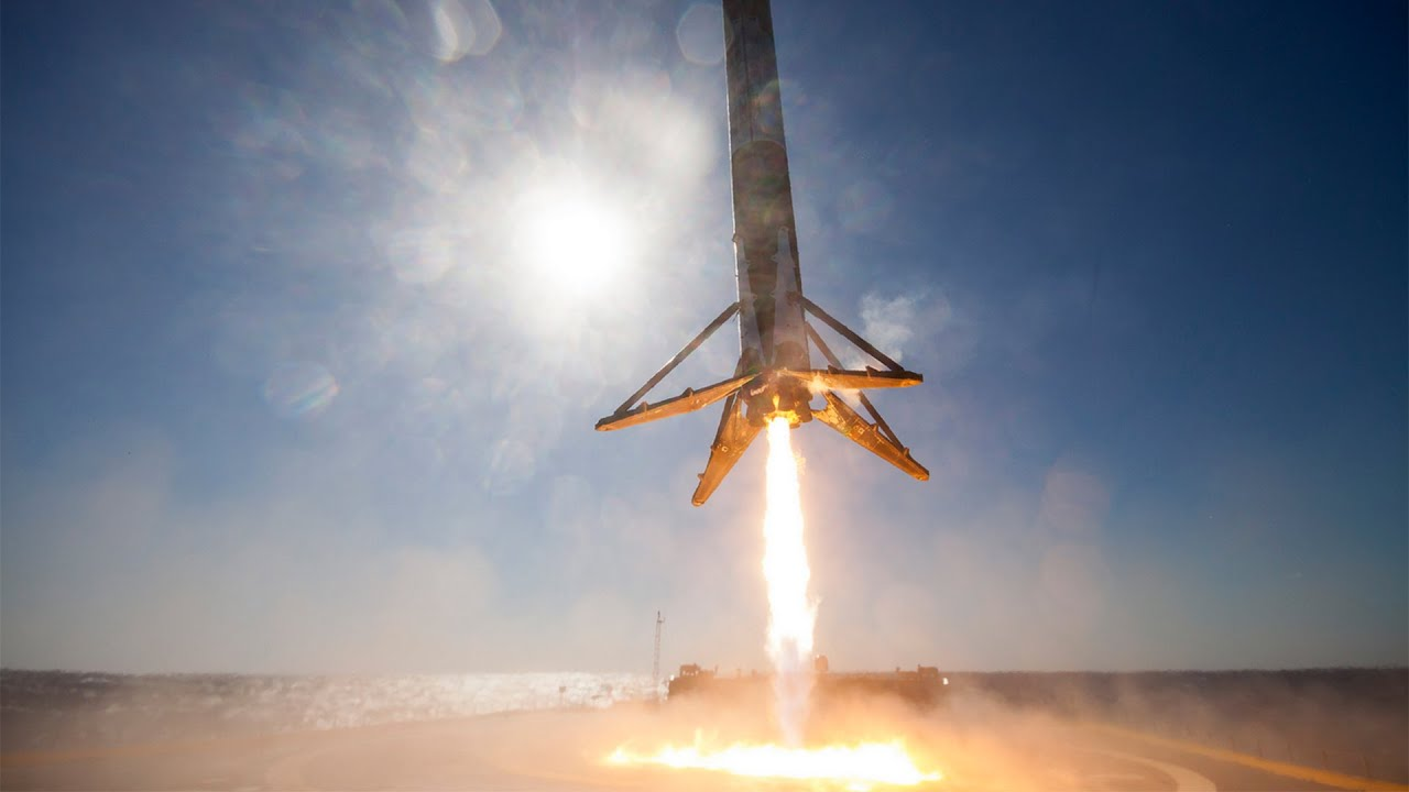 Awesome 360 View Of Space X Self Landing Falcon 9 Rocket