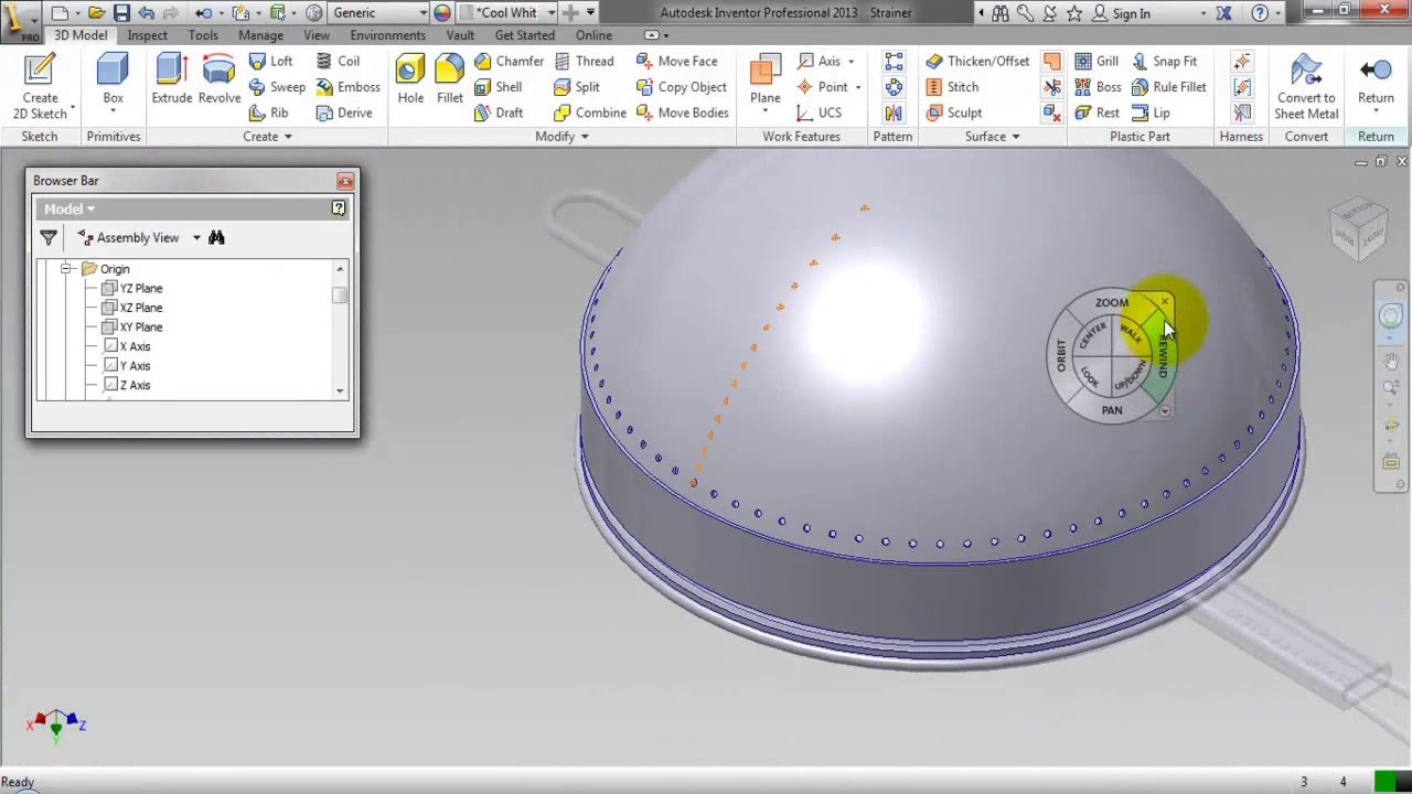 Creating Holes On The Curved Surface Video Tutorial