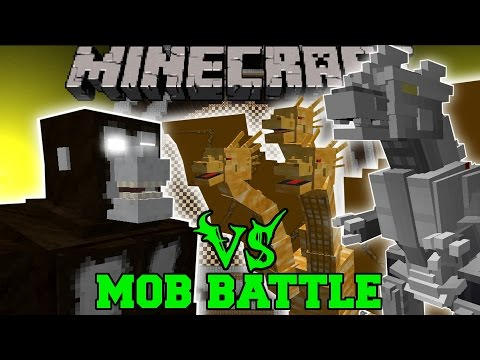 KING KONG VS KING GHIDORAH & KIRYU (MECHAGODZILLA) - Minecraft Mob Battles - Mods