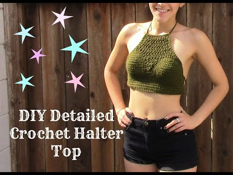 Detailed Crochet Halter Top