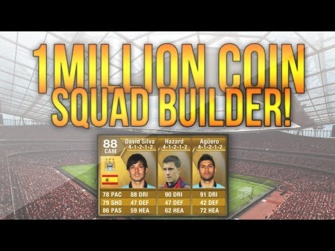 FIFA 13 Ultimate Team   1.000.000 Coin Squad Builder! Ft. 90 Rated Player!