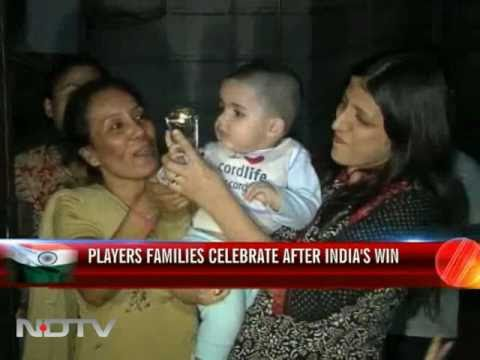 Players proud families erupt with joy