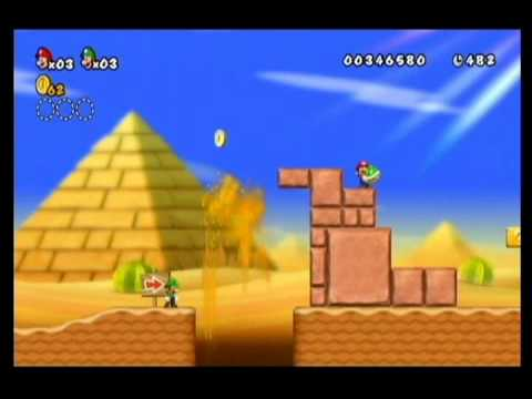 NEW SUPER MARIO BROS WII-ALM1GHTY & WIFEY-WALKTHROUGH-WORLD 2-1-PT1