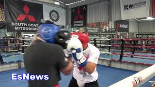 ((EPIC)) UFC Star Jose Aldo Sparring Mexican Olympian Boxer Lindolfo Delgado - EsNews Boxing