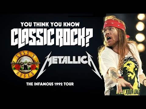 The '92 Guns N' Roses   Metallica Tour - You Think You Know Classic Rock? video