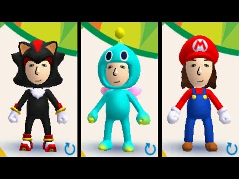 Mario and Sonic at the Rio 2016 Olympic Games (3DS) - All MIi Costumes
