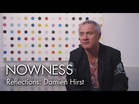 "Damien Hirst in Matt Black's ""Reflections"" series"