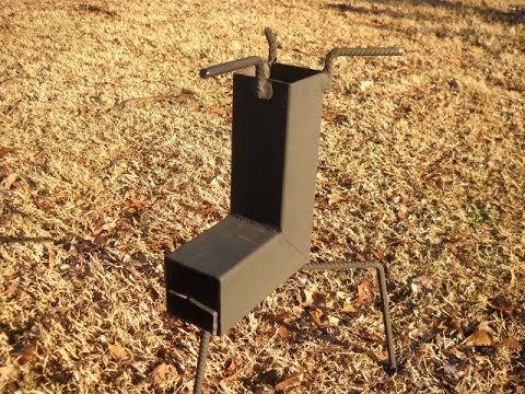 Build a nice rocket stove for about 10 bucks youtube for Homemade rocket stove plans