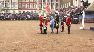 The Queen attends the Household Cavalry Standards Parade