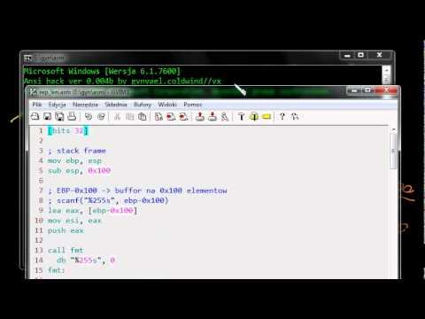 Gynvael's Videocast Asm #20: Operacje na stringach (REP/Z/NZ, MOVS/etc