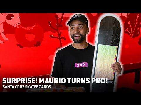 Surprise! You're PRO! Maurio McCoy Turns Pro for Santa Cruz Skateboards