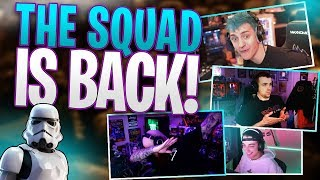 The squad IS BACK! Ninja, TimTheTatMan, Clkzy, and DrLupo!