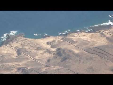 Incredible landing at Lanzarote airport. HD Original Sound