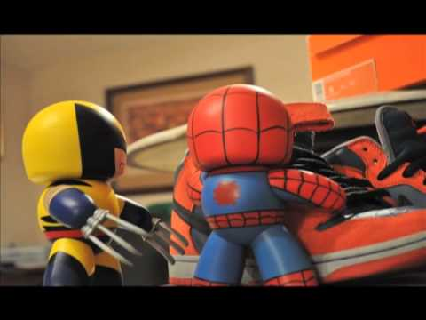 Marvel Mighty Muggs Stop Motion Wolverine and Spider-Man