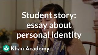 Student story: Admissions essay about personal identity