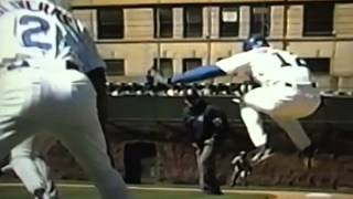 Shawon Dunston Gets Hit By Batted Ball Two Days In A Row!