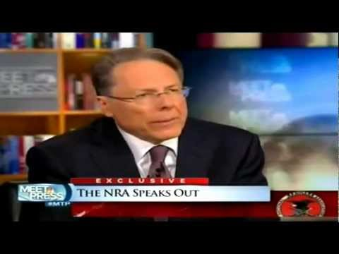 NRA chief Wayne LaPierre on NBC's Meet The Press