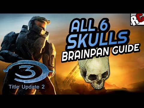 Halo 3 BRAINPAN - All 6 Skull Locations MP -  Masterchief Collection Title Update 2