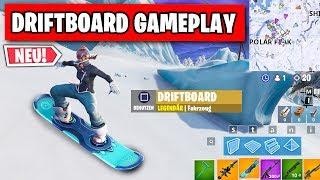 Driftboard Gameplay 🏂 So ist das neue Snowboard ❄️   Fortnite Season 7 Deutsch
