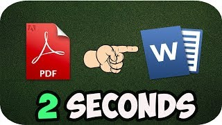 How to Convert PDF to WORD in 2 Seconds(Offline)