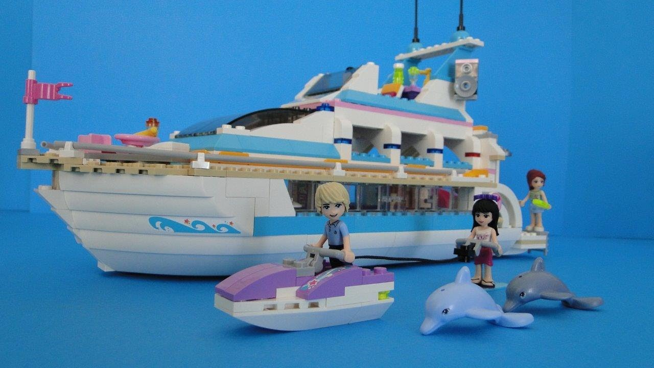 Lego Friends 41015 Dolphin Cruiser Yacht STOP MOTION  YouTube