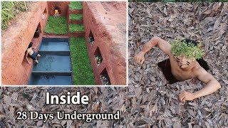Build And Living In The Most Secret Underground House With Swimming Pool