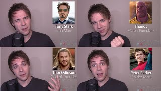 AVENGERS IMPRESSIONS! (Thor, Iron Man, Thanos, Black Panther, Spider-Man)