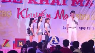 Lâm Chấn Khang bị Fan nữ cưỡng hôn trên sân khấu tại Quy Nhơn