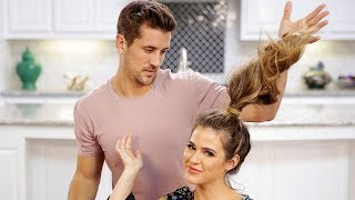 Fiancé Does My Hair | Engaged with JoJo and Jordan