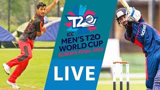 LIVE CRICKET - ICC Men's T20 World Cup Europe Final 2019 - Germany vs Norway. Match starts 10.45 BST