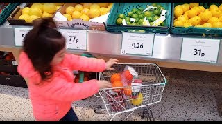 Emily Doing Shopping  - Supermarket Song - Kids Size  Shopping Cart