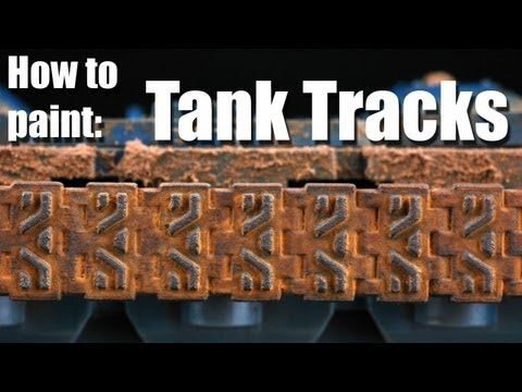 How to paint the tank tracks?