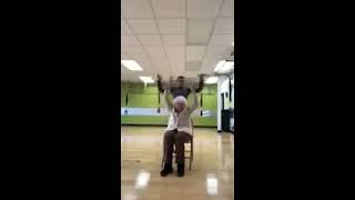 Grandma dancing in the chair gym - 984554