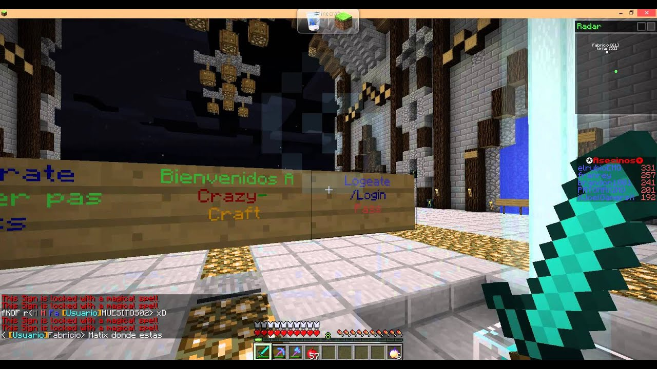 Minecraft 1 5 2 server crazy craft muy bueno youtube
