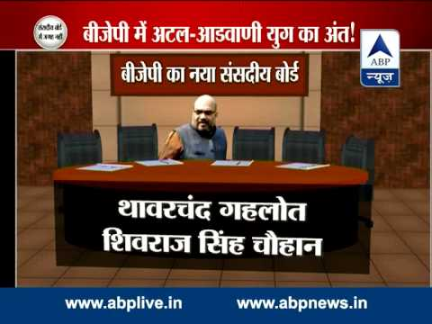 BJP names central parliamentary board l  Veteran leaders Advani, Vajpayee and Joshi dropped out