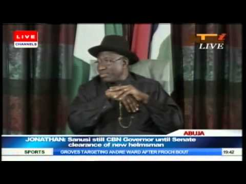 Jonathan Says Sanusi Is Still CBN Governor