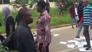 KNUST students on demonstration over unfair treatment