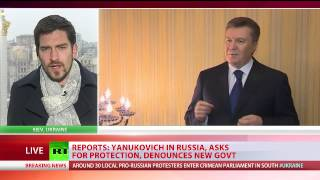 Ukraine, Yanukovich says he's still president, asks Russia to ensure his safety 2/27/14