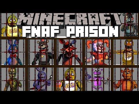 Minecraft FNAF PRISON MOD / HELP FIVE NIGHTS AT FREDDY'S ESCAPE PRISON!! Minecraft