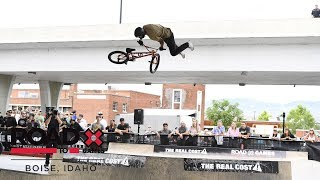 Mykel Larrin wins BMX Park l Road To X Games Boise 2018