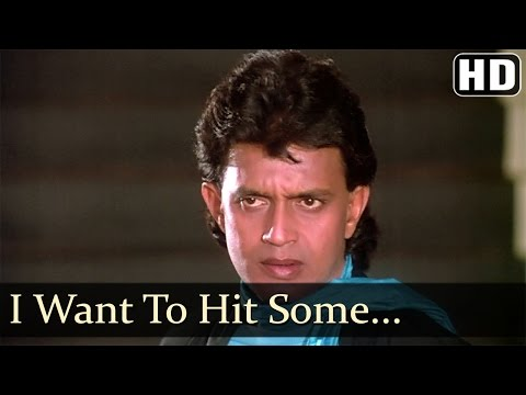 I Want To Hit Somebody - Mithun - Neelam - Waqt Ki Awaz - Hindi...
