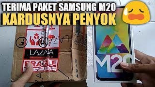 Terima Paket Samsung M20 Kardus Peny0k 😥 Flashsale Lazada