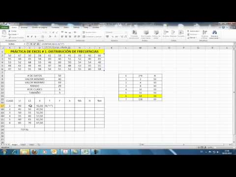 TABLA DE DISTRIBUCIÓN DE FRECUENCIAS - EXCEL 2010.mp4